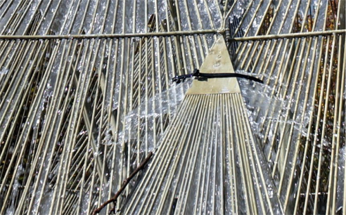 A zip tie holding part of the neglected Canberra Times Fountain together in Civic. Photo by John Griffiths