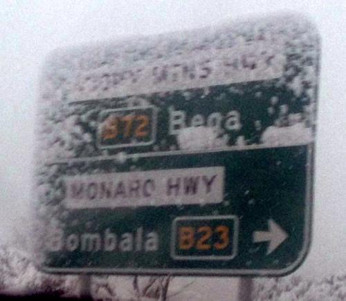 snow sign
