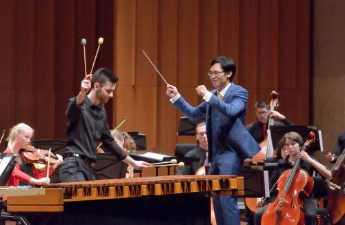 Canberra Youth Orchestra - Occidental concert.  Conductor Shilong Ye with soloist Adam Cooper-Stanbury