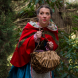 Sian Harrington as Little Red Riding Hood. Photo by Andrew Finch