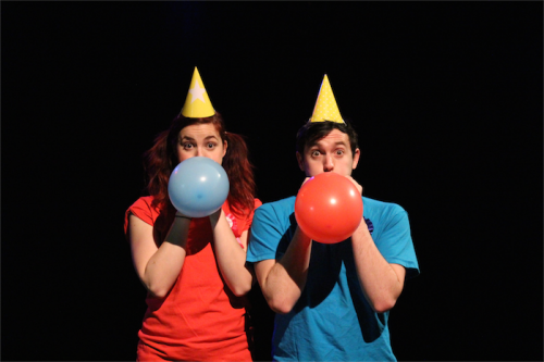 Olivia Fyfe and Jamie Winbank… producing an installation that will recall a child's birthday party.