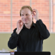 Peter Tregear while conducting