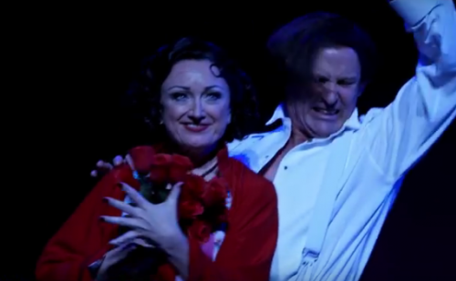 Caroline O'Connor and Todd McKenney as Reno and Lord Evelyn