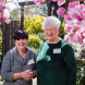 "Open Gardens Canberra president Shirley Pipitone, right, with garden owner Carolan Marstin... ""I'm very happy to be kicking off the brand-new season of open gardens,"" says Carolan."