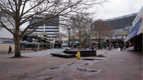 Ghost town... Garema  Place in Civic. Photo by John Griffiths
