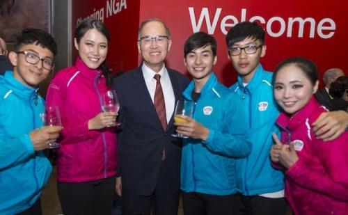 Li Chun, Chen Yating, Taiwan Ambassador Dr. David Lee, Wang Chun Kai, James Troy and Mei Chiling