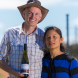 """Josh and Jo Murray... """"We learned everything from scratch and to now be at the point where our riesling is already getting bronze, we are very excited."""" Photo by Andrew Finch"""