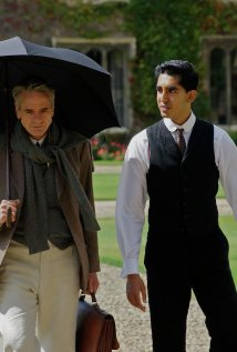 Jeremy Irons and Dev Patel as Hardy and Ramanujan