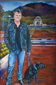 Paul Daley, as depicted by Canberra artist Barbara van der Linden