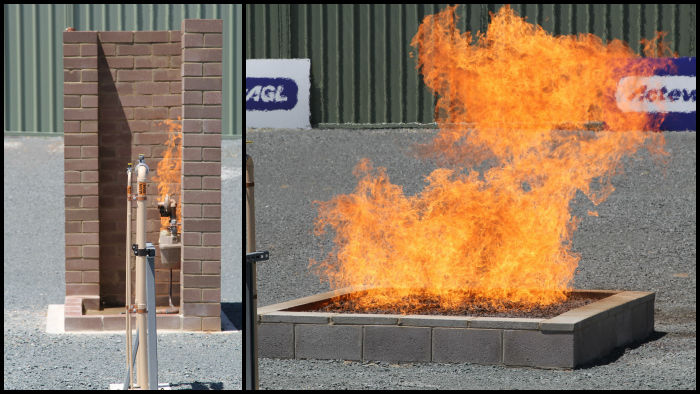 GAS FIRE training
