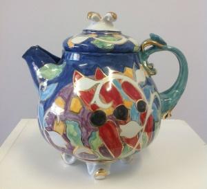 At Strathnairn, Majolica Sturt Pea Teapot by Monika Leone