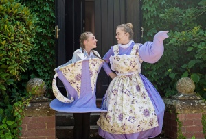Zara McAnn as chip, Amy Jenkins as Mrs Potts. Photo by Bec Doyle Photography