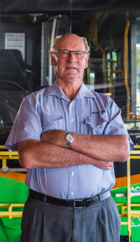 """Retiring driver Terry Lees… """"One of my regular passengers in Latham once said to me: 'Terry, you have carted three generations of my family!'"""