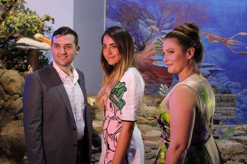 Tim Dal Cortivo, Mikayla Williams and  Louiza Blomfield