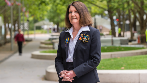 """Rotary district governor Monica Garrett… """"We are eager to increase membership, particularly young people."""" Photo by Andrew Finch"""