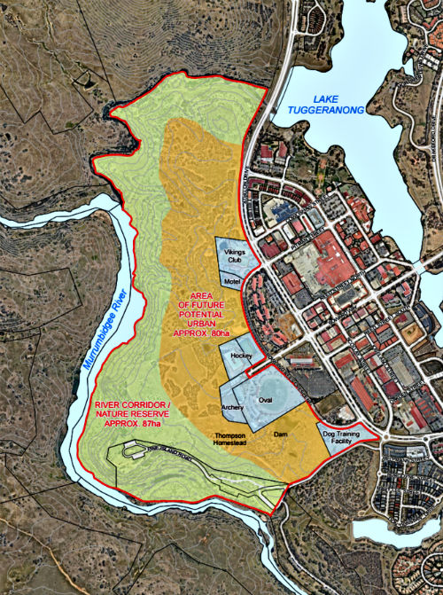 map of tuggeranong development