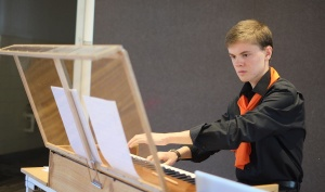 Byrd to Britten - Samuel Giddy playing the organ built by his father - Photo by Hou Leong