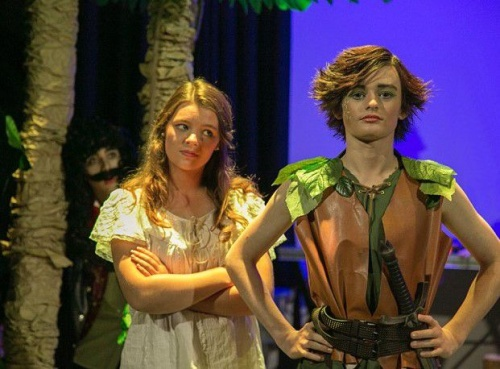 Wendy (Grace Newman) and Peter Pan (Mitchell France)