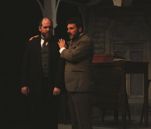 Sam Hannan-Morrow as  Vanya and Jim Adamik as Astrov, photo Helen Drum.