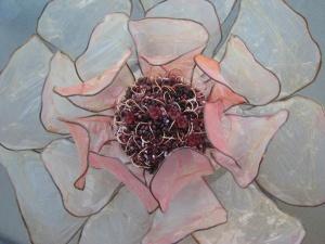 Ann McMahon – Covet 2, Gorgeous Borgeous, Fabric, wire, beads, thread, hog gut, Textile sculpture assemblage