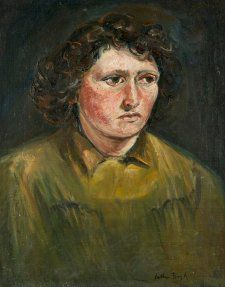 Self-portrait 1945-46 by Arthur Boyd (1920-1999) oil on canvas, National Portrait Gallery, Canberra. Purchased with funds provided by the Liangis family 2014 Image courtesy of Bundanon Trust