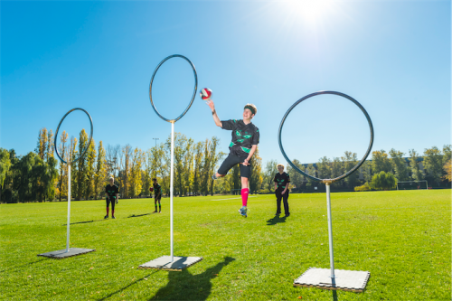 Quidditch in action.