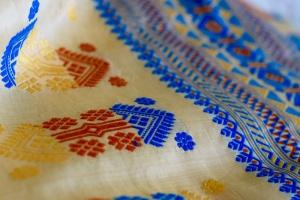 Muga handwoven saree