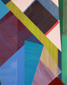 Sanne Koelemij's 2016 acrylic medium and enamel paint on acrylic perspex.