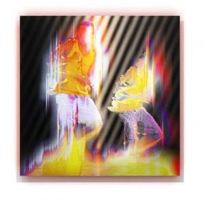 Alexander Boynes - 'Everywhen',  pigment & enamel on acrylic and aluminium,