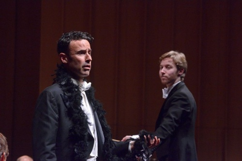 Tobias Cole as the unfortunate Swan and conductor Leonard Weiss