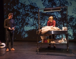 """Colin Lane and Ngaire Dawn Fair in """"Extinction"""""""