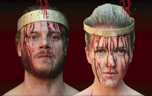 """Chris Zuber and Jenna Price… """"Macbeth's"""" murderous duo."""