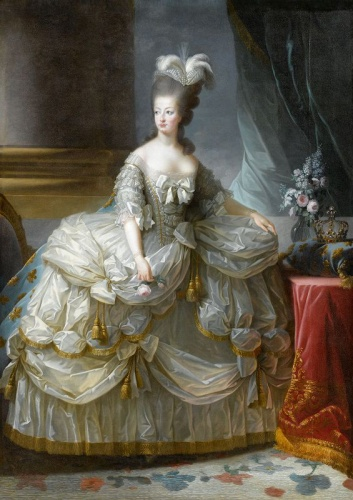 "After Louise Élisabeth Vigée Le Brun, ""Queen Marie-Antoinette 1783,"" oil on canvas, on loan from the Palace of Versailles ,Photo © Château de Versailles, Dist. RMN-Grand Palais / Gérard Blot"
