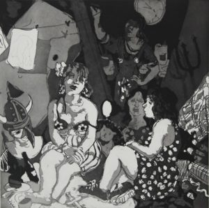 Wendy Sharpe, Self Portrait with Models
