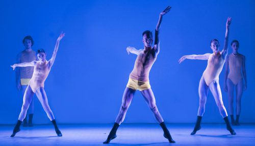 """Samuel Harett-Walsh performing with the company in""""Zealots"""""""
