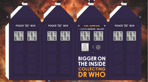 A cut-out Tardis is one of CMAG's ideas to let visitors make their own memorabilia.