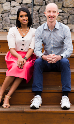 """Charlie Salter and Rose Kumar... """"We believe in the power of education as an investment and a mechanism to improve social outcomes and wellbeing."""" Photo by Andrew Finch"""