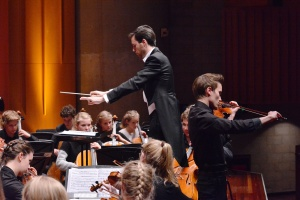 Reinke conducts as Ringle plays