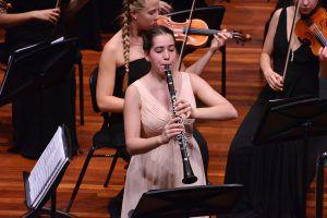 Rebmann plays clarinet