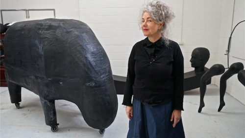 Artist Heather B Swann… known for her large installation pieces.