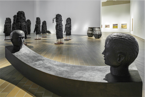 """Heather B. Swann's installation """"Nervous"""" at the National Gallery."""