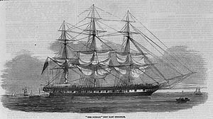 """The Dunbar"" from the ""Illustrated London News"", 1853."