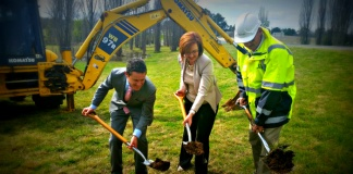 Cotter Road sod turning