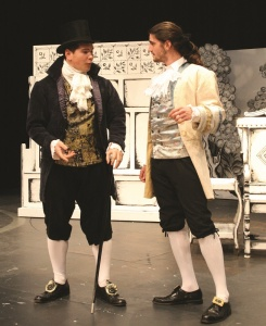 George Pulley (Young Marlow), and Teig Sadhana (George Hastings)