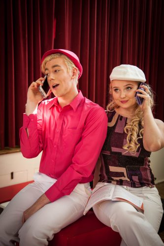 "Lachy Agett and Sophie Hopkins as Ryan and Sharpay in ""High School Musical."""
