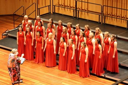 Waratah Girls Choir on stageon  Saturday