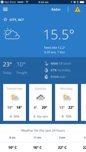 bom weather screenshot