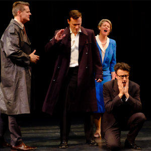 Handel's quartet of distress - Christopher Richardson, Andrew Goodwin, Christina Wilson and Tobias Cole - Photo by Hou Leong