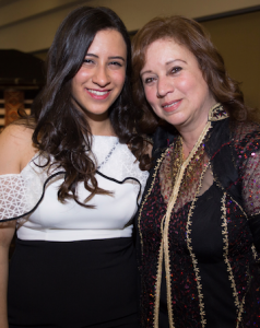 Farah and Omneya Khairat at the Hellenic Club launch of their charity cookbook.