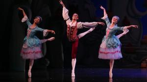 """The Nutcracker"" dancers, from left, Lina Kim, Alec Roberts and Tamara Hanton. Photo by David Kelly"